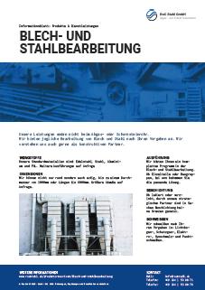 RoC Stahl GmbH Bochum Datenblatt Blech- und Stahlbearbeitung Vorschau