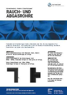 Datenblatt Rauch- und Abgasrohre RoC Stahl GmbH Bochum